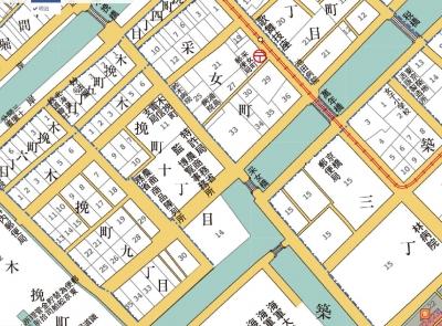 釆女町明治地図