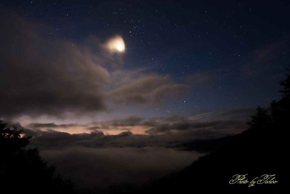 月明りの雲海