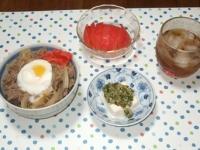 7/4 夕食 牛丼、