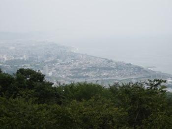 7/18 一夜城・展望台から小田原市内と海