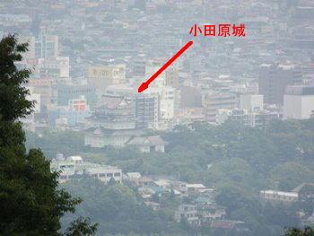 7/18 一夜城・展望台から見える小田原城