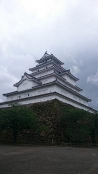 会津鶴ヶ城(雨天)