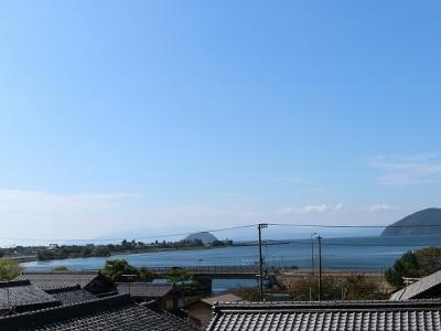 片山観音堂からの眺め(琵琶湖)