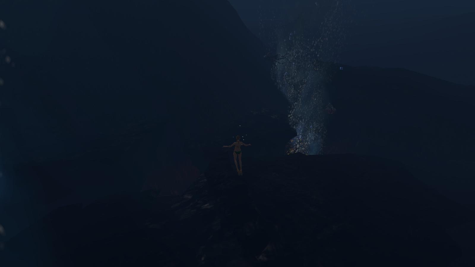 海底の水流
