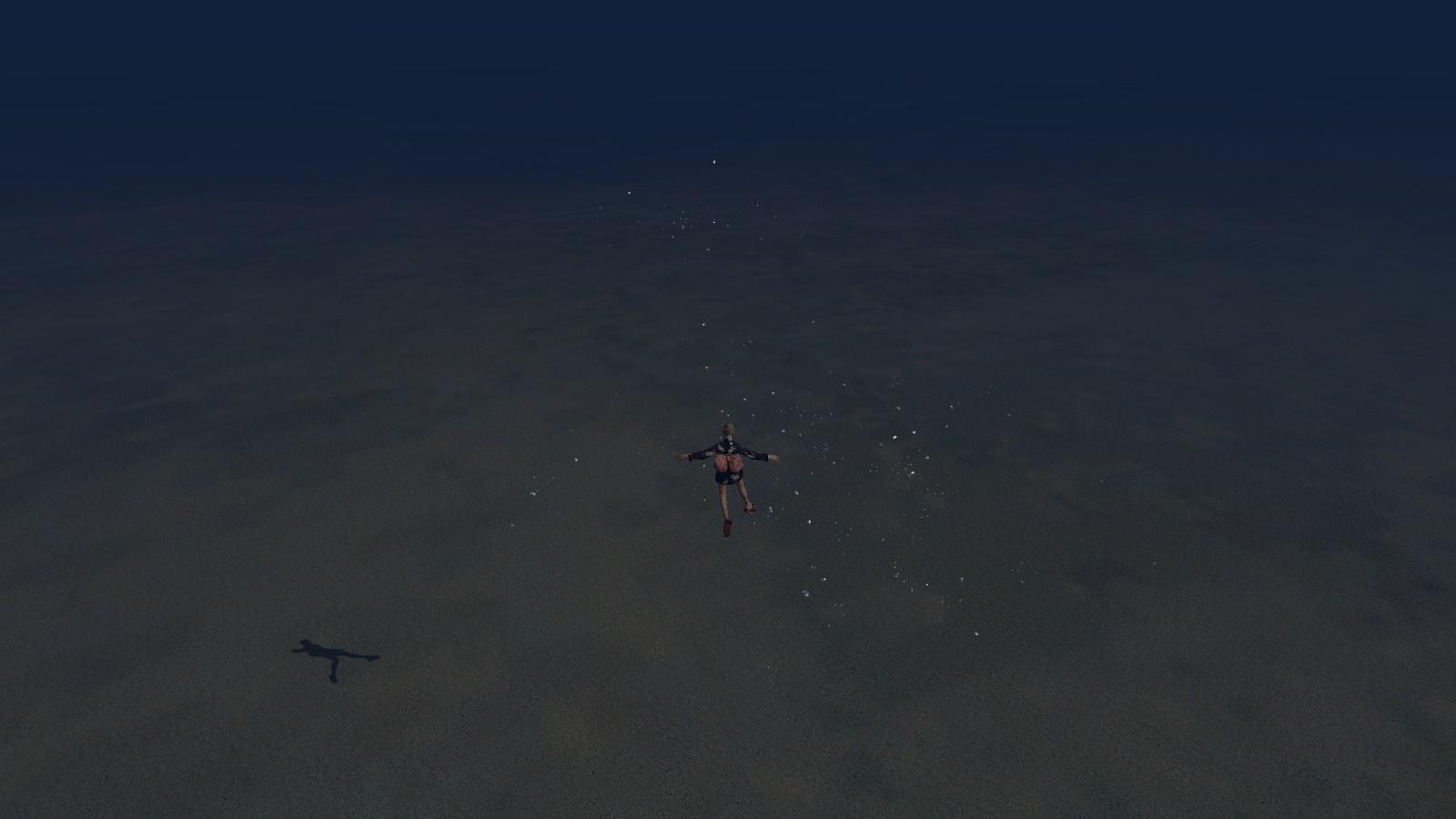 海底のキラキラ