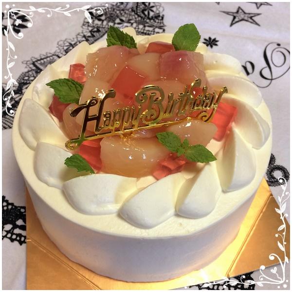 桃のショートケーキ2
