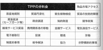 TPPの分科会