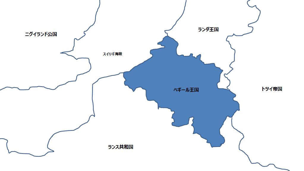 ベギール王国(周辺地図)