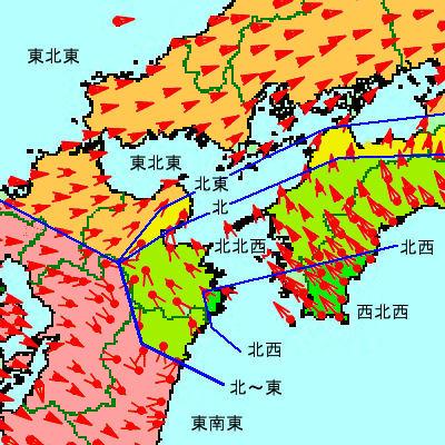 等向線図四国