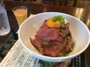 内神田 Public House THE OLD ROCK 神田店 ローストビーフ丼(2016/4/14)
