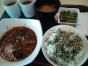 品川SS 社食 定食A(麻婆茄子)+副菜(2016/5/23)