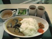 品川SS 社食 ナスとチキンのカレー+副菜(2016/5/25)