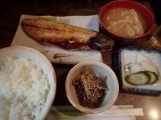 青物横丁 食事処なかむら 焼き魚(サバ干)定食(2016/6/16)