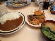 九段下 カレーと食菜の店 ベル 半カレー+煮物定食(2016/5/10)
