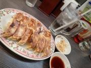 中野 餃子の王将 中野店 よく焼き餃子*2+生ジンジャーサワー+冷やし中華(2016/7/28)