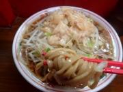 大井町 ザ・ラーメンスモールアックス 小ラーメン(野菜+カラメ+アブラ)(2016/9/21)