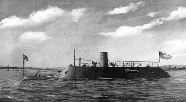 CSS_Virginia,_wash_drawing_by_Clary_Ray_(Photo_-_NH_57830)
