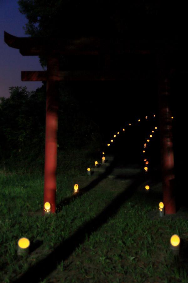 参詣道の竹明かり