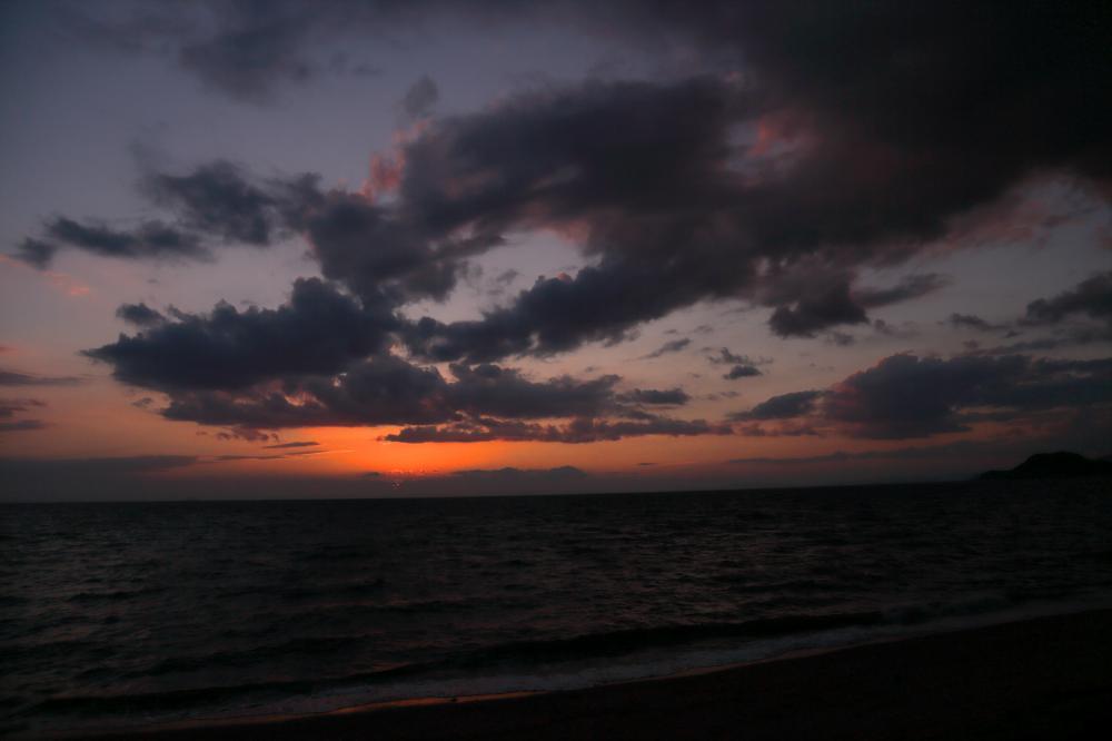 日暮れ後の空