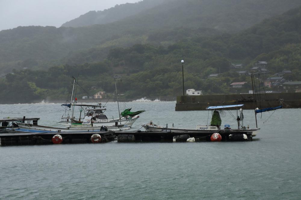 嵐の三崎港