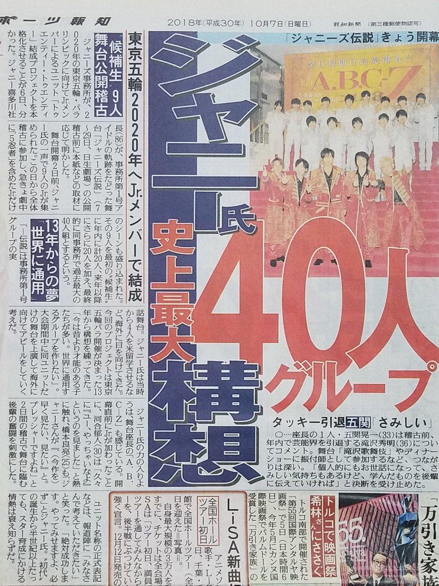 【トニトニ】ジャニーズが東京五輪に向けて40人の大型ユニット始動。気になるメンバーは?