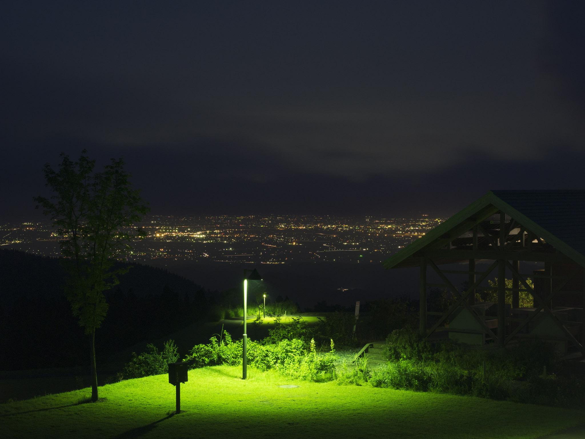 牛岳パノラマオートキャンプ場夜景