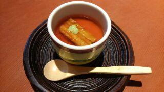 茄子の花茶碗蒸し
