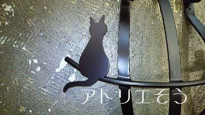 アルミ製妻飾りCタイプ+猫