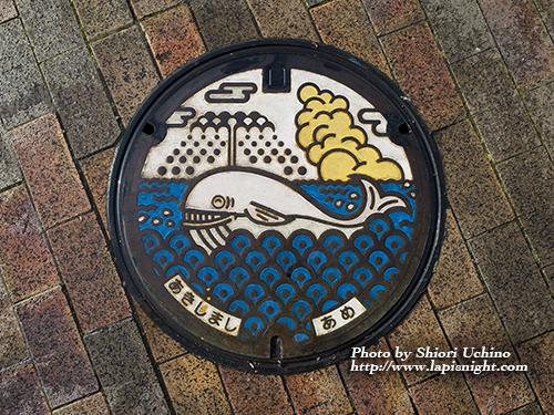 昭島市 マンホール クジラ