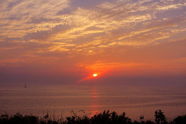 荒崎公園にて夕日の撮影