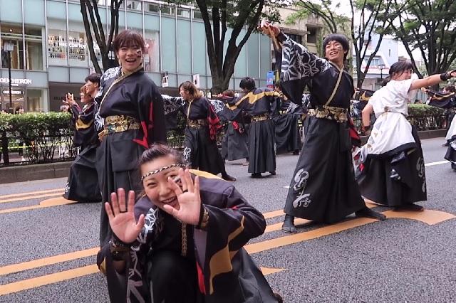 2016原宿スーパーよさこい 早稲田大学 踊り侍(1)