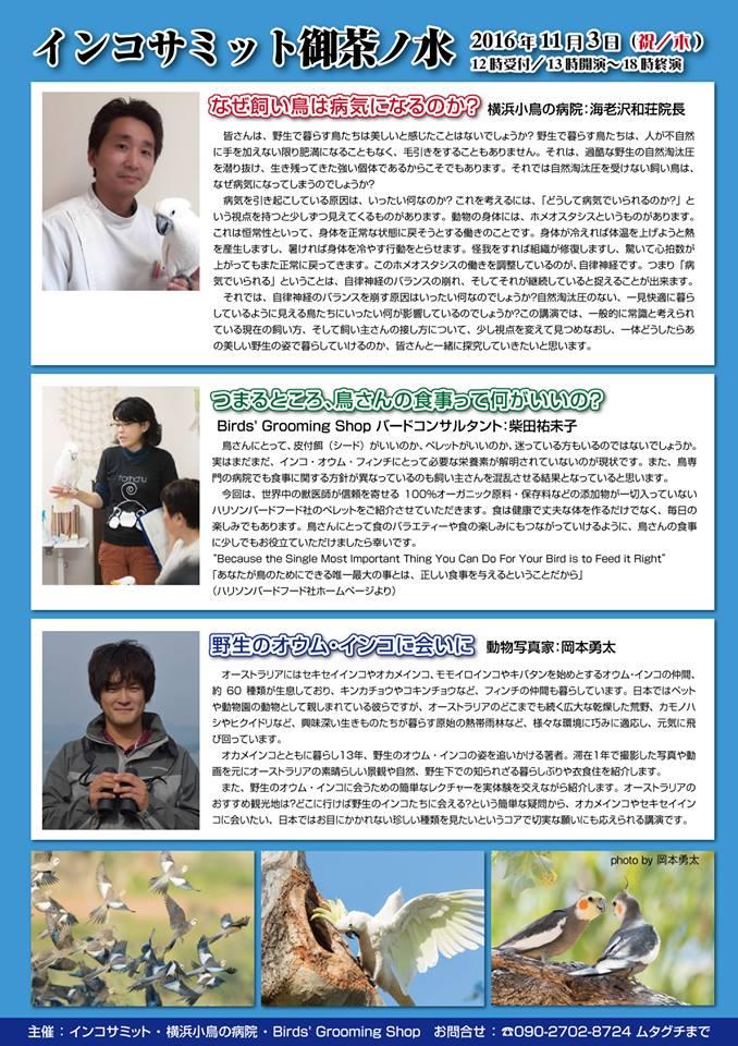 20161103インコサミット御茶ノ水2