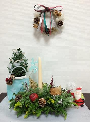 【おうち花マスター講座】受講生作品クリスマス1