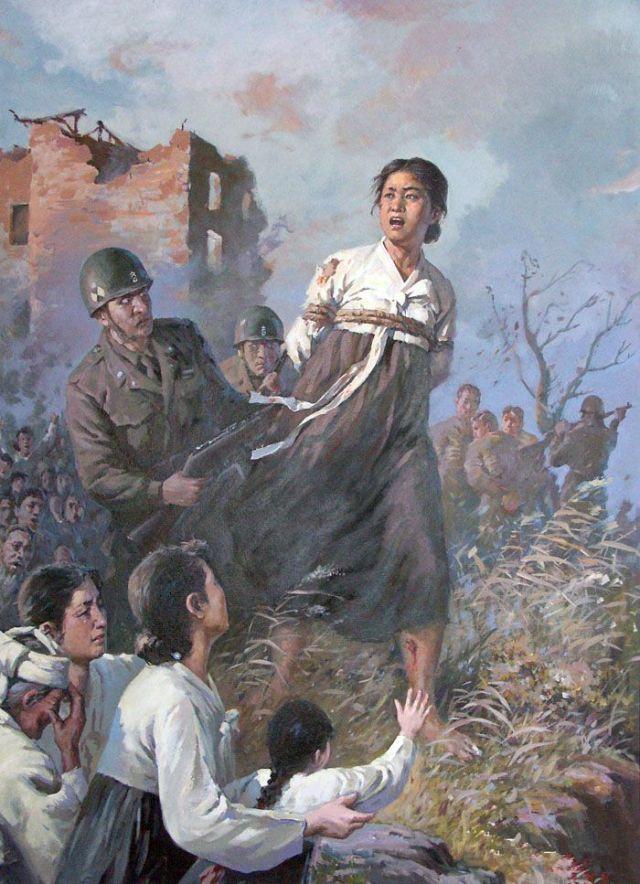 北朝鮮の宣伝画1