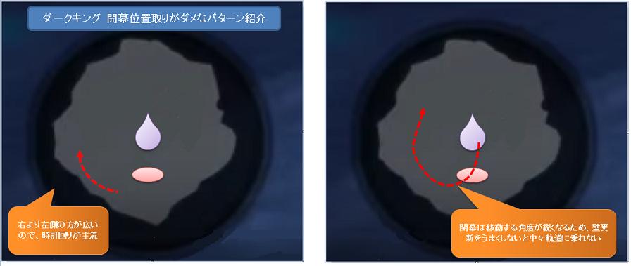 (ダークキング)開幕位置取りがダメなパターン紹介