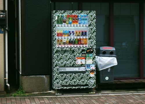 唐草模様の自動販売機1