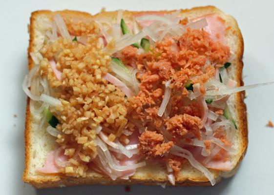 大根サラダ+鮭フレーク&生姜酢