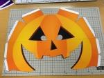 ハロウィンかぼちゃかぶり物の作り方型紙