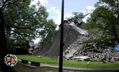 熊本城 熊本・大分地震 熊本城に石垣の崩落 ちえのなんでもアリ日記