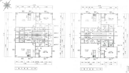 佐々木新築アパート平面図