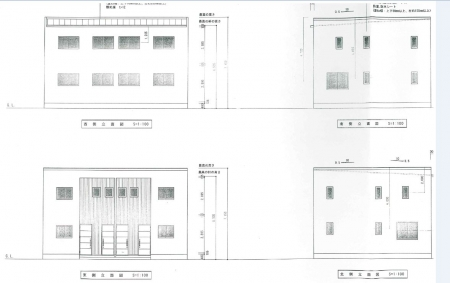 佐々木新築アパート立面図