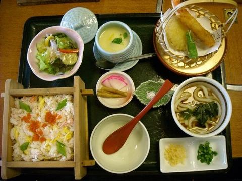 甲羅屋本店・H28・1 味彩ランチ(かにセイロ)