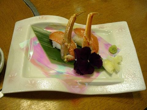 甲羅屋本店・H28・1 かに握り寿司