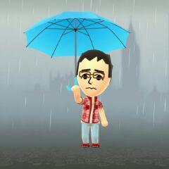 お父さん 梅雨 雨降り