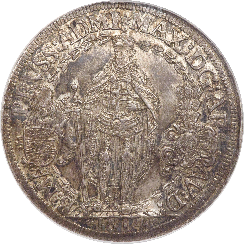 Teutonic OrderMaximilian 3 Taler 1614 MS62