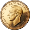 George VI gold Proof 5 Pounds 1937 PR63 Cameo