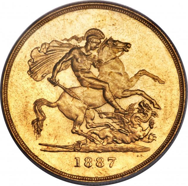 ヴィクトリア女王5ポンド金貨1887年2