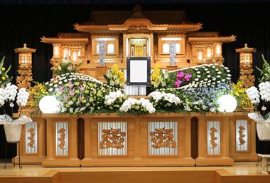 緑 ピンポンマム 花祭壇 豊川 花屋 花夢