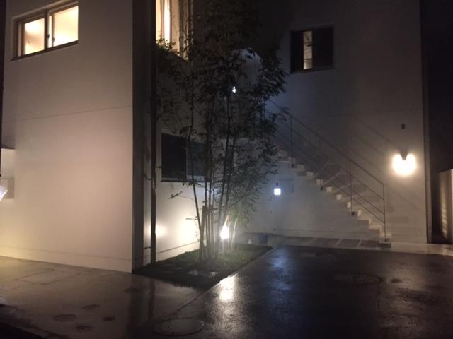 コーポラティブハウス大井町雨の外観