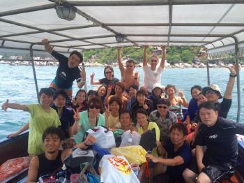 お盆、ダイビング、タオ島